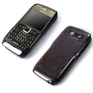 Grey Soft Circle Gel Skin Cover Case For Nokia E71 E 71