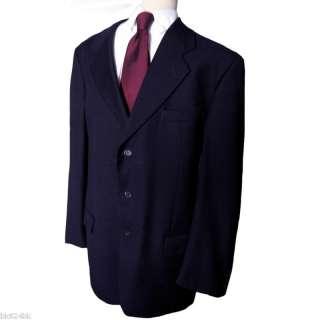 VALENTINO Men Italian Navy 3Btn Blazer Suit Jacket 42 L