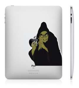 Snow White Witch iPad 2 And iPad 1 vinyl sticker humor decal skin Art