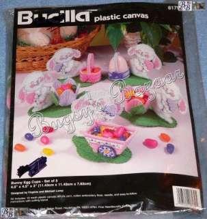 Bucilla BUNNY EGG CUPS Easer Candy Plasic Canvas Needlepoin Ki   V