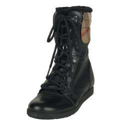 Burberry Womens Leather Lace up Boots