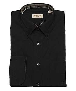 Burberry Mens Black Dress Shirt