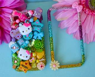 HELLO KITTY SAMSUNG GALAXY S i9000 Sweet CANDY CRYSTAL BLING 3D PHONE