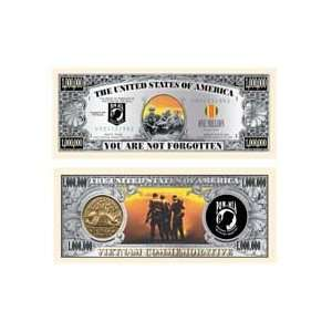 Set of 10 Bills POW/MIA Memorial Million Dollar Bill Toys & Games