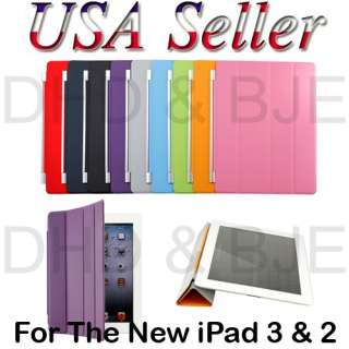 iPad 3/3rd Generation Magnetic Smart Cover PU Leather Case Multi Color