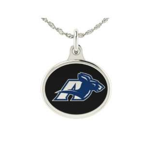 Akron Zips Charm Pendant. Solid Sterling Silver with