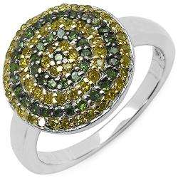 Silver 1/2ct TDW Green and Yellow Diamond Ring (I2 I3)