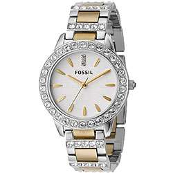 Fossil Womens Crystal Two tone Watch