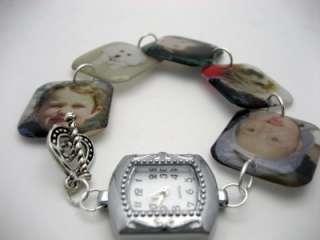 Custom keepsake memory charm bracelet watch with your photos NEW mommy