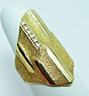 HEAVY H. STERN Designer 18K Gold Diamond Ring 14.7gr KILLER Estate