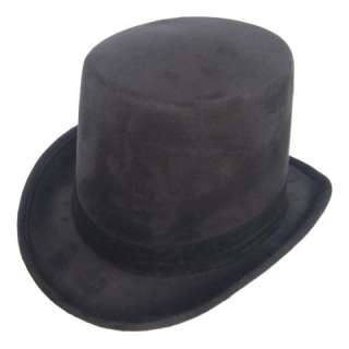 Coachman SteamPUNK Victorian Top Hat Dickens Black