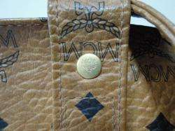 AUTH MCM MUNCHEN Brown Monogram Canvas Leather Hand Shoulder bag