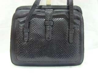 Beautiful Vintage Black Authentic Snake Skin & Leather Handbag, Purse