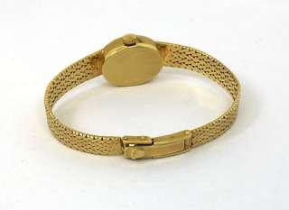 VINTAGE LADIES ROLEX 14K GOLD MESH BRACELET WRIST WATCH