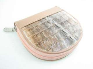 Genuine Crocodile Tail Skin Leather Wallet Coin Purse
