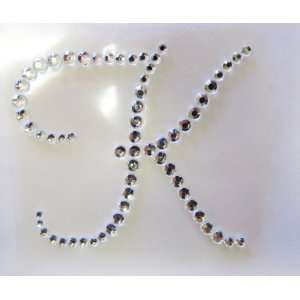 Rhinestone Initial Applique Sticker   Letter K Everything