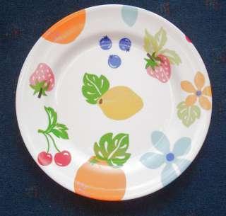 summertime melamine dinner plate fruit & hippie flower power 11
