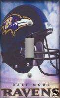 Baltimore Ravens Single Light Switch Plate Cover   Clouds