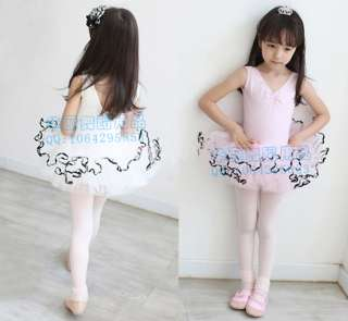 Party Leotard Ballet Costume Tutu Skirt Dance Skate Dress 5 8Y 2colors