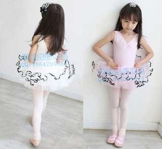 Party Leotard Ballet Costume Tutu Skirt Dance Skate Dress 5 8Y 2colors