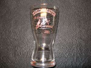 1964 ST. LOUIS CARDINALS WORLD SERIES CHAMPION GLASS