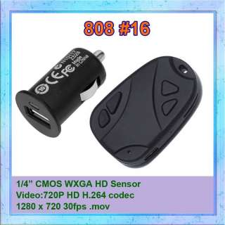 Real #16 808 HD Micro Car Key Chain Camera DVR 720P H.264 Camcorder