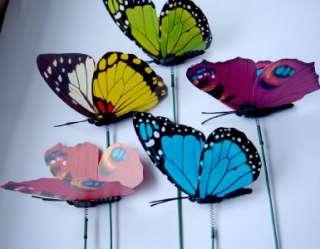 24Pcs Butterfly Wedding Cake Favor Home Decoration 8.5cm