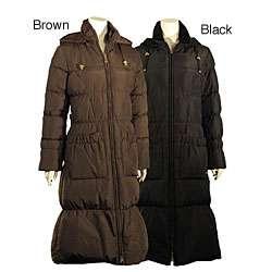 Betsey Johnson Womens Long Down Coat