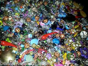 MEGA MIX LOT Jewelry Making Finding Bead Soup Supplies Charm Metal