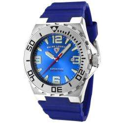 Swiss Legend Mens Expedition Blue Dial Blue Silicon Watch