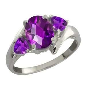 1.42 Ct Genuine Checkerboard Purple Amethyst Gemstone