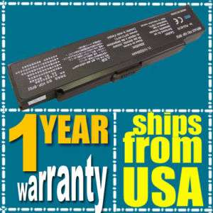NEW Laptop Battery for Sony Vaio VGN FS570 pcg 6j2l