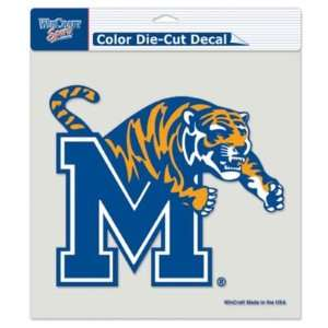 Memphis Tigers 8x8 Die Cut Decal