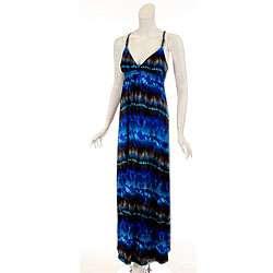 JFW Womens Plus Size Dark Blue Maxi Dress  Overstock