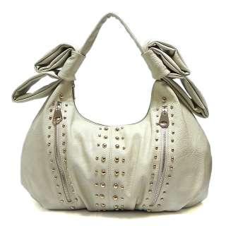 New Fashion Zipper Stud Shoulder Bag Hobo Satchel Tote Purse Handbag
