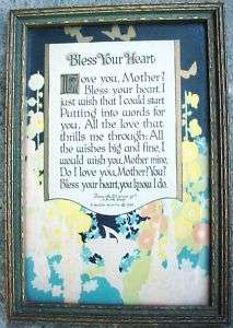 Buzza Motto Print BLESS YOUR HEART 1925 Vibrant Colors