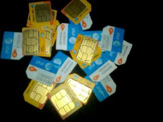 USED AT&T MICRO SIM CARD GOOD FOR UNLOCKING IPHONE 4