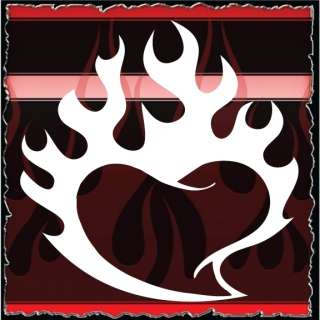 Heart 10 airbrush stencil template harley paint