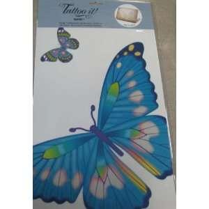 Tattoo It ER13888 Large Blue Butterfly Sticker
