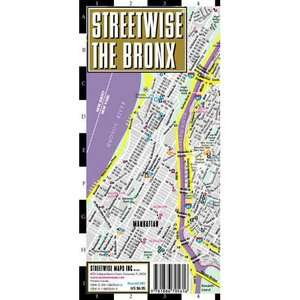 Streetwise the Bronx Map   Laminated City Street Map of the Bronx, New