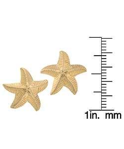 14k Yellow Gold Starfish Earrings