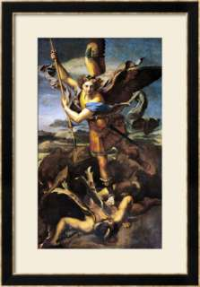 St. Michael Overwhelming the Demon, 1518 Prints by Raphael at