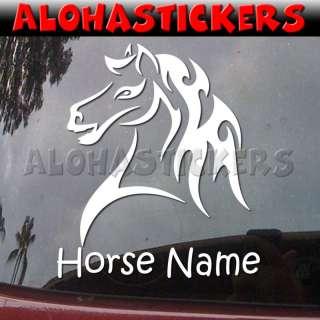 Custom TRIBAL PONY HORSE MUSTANG Car Decal Sticker T42C
