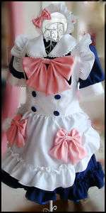 Japanese Girl Maid uniform Cosplay lolita Costume Dress