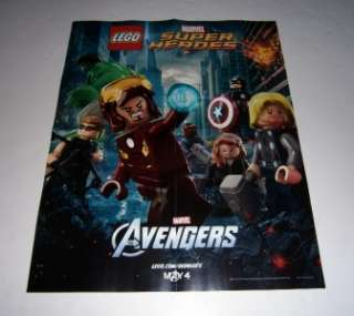 LEGO Marvel THE AVENGERS Promo Poster Thor Iron Man Hulk Captain