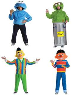 Sesame Street Bert, Ernie, Oscar The Grouch, Cookie Monster Adult