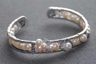 SILPADA Sterling Silver & Pearl Cuff Bracelet   B2310
