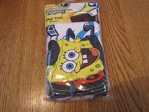 Spongebob Squarepants 3 pack boys briefs underwear 8 Nickelodeon 3 PK