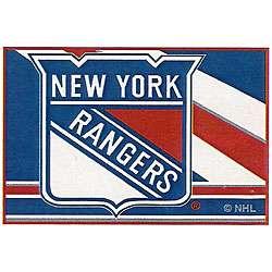 NHL New York Rangers Blue/ Red/ White Rug (16 x 24)