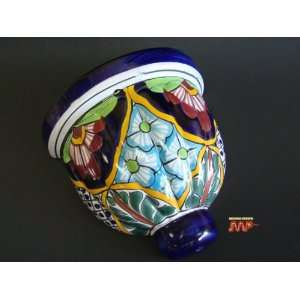 TALAVERA Ceramic Scone Wall Planter Pottery 8 (Flower Designs)   Dia
